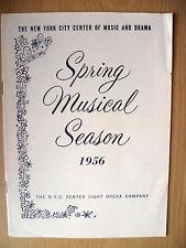1956 New York City Center Programme: CARMEN JONES by William Hammerstein II