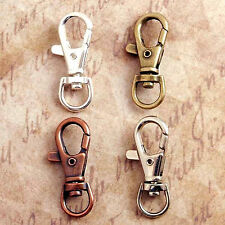 10 QTY - SWIVEL CLIPS Keychain, Bag Tag, Purse Charm, Lanyard Hook - PICK FINISH