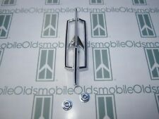 1971 Olds Cutlass Rocket Hood Emblem with Hardware | Die Cast Chrome