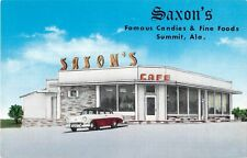 Alabama postcard Summit Saxon's Famous Candies & Fine Foods restaurant