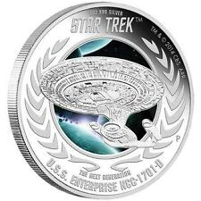 Star Trek: New Generation U.S.S. Enterprise NCC-1701D 2015 1oz Silver Proof Coin