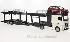 Burago- Mercedes Actros 2545 Autotransporter mit Ford Focus 1:43 Bburago >>SALE<