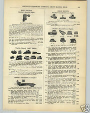 1936 PAPER AD Marble Rifle Sight Adjustable Leaf Sight Receiving Sights Shotgun