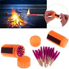20PC Survival Tool Fire Starter Windproof Waterproof Matches For Outdoor Camping