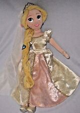 "Disney Store Rapunzel Plush Doll Wedding Bride 20"" Tangled Ever After Clean"