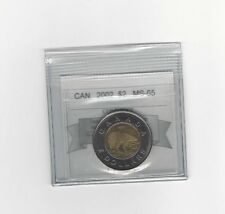 **2002** Coin Mart Graded Canadian, Toonie, Two Dollar, **MS-65**