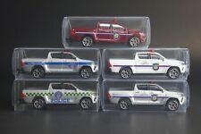 Majorette THAILAND POLICE Toyota Hilux Revo Cars Set of 5 [Loose packs] [1/58]