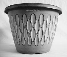 """2 x grande 12,5 """"Teardrop planteur pots en plastique jardin pation Flower Pot nouveau"""