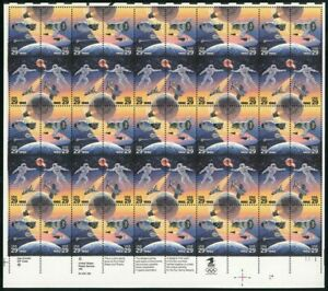 Space Accomplishments Sheet of Fifty 29 Cent Postage Stamp Scott 2631-34