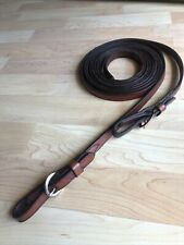 """New listing Tory Leather Brown Western Plain Leather Split Reins Buckle Ends 1/2""""W x 7'"""