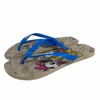 Havaianas Mens Disney Flip Flops Size 13 Mickey Minnie Donald Daisy Duck NWOT