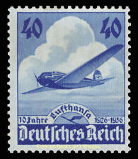 EBS Germany 1936 10th Anniversary of Lufthansa Michel 603 MH*