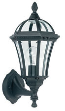 Endon Drayton uplight outdoor wall light IP44 60W Textured black paint & glass