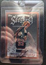 1996 97 TOPPS FINEST W/C #50 MICHAEL JORDAN CHICAGO BULLS HOF