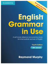 English Grammar in Use Book with Answers: A by Raymond Murphy New 🔥🔥