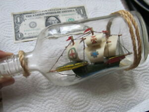 """Beautiful Vintage Classic 3-Dimensional """"SHIP IN A BOTTLE"""", GIFT, Maritime Naval"""