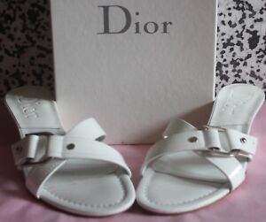 NEW DIOR GENUINE LEATHER SANDALS SLIDES MULES UK 5 / EU 38