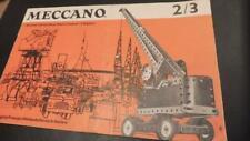MECCANO - MANUAL Set 2/3 1967