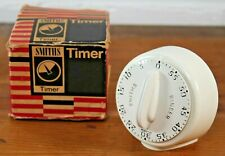 Vintage 1960s Smiths Kitchen Timer QLR 400/1 White Original Box, Alarm 60 Mins