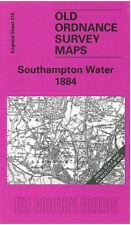 OLD ORDNANCE SURVEY MAP SOUTHAMPTON WATER BOTLEY HAMBLE NETLEY ROMSEY 1884
