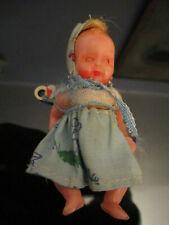Old Estate Vintage Hard Plastic Miniature Baby Doll House Italy Italian!