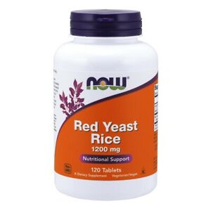 Now Foods Red Yeast Rice 1200 mg - 120 Tablets FRESH, FREE SHIPPING, MADE IN USA