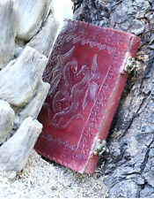 Handmade Leather Journal Double Dragon Diary Leather Sketchbook Notebook Artist