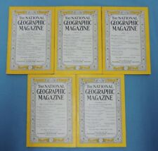 National Geographic Magazine ~ 1947 year set -- (5 of 12 issues)
