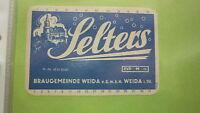 OLD EAST GERMAN SOFT DRINK CORDIAL LABEL, WEIDA BREWERY 1