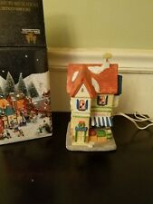 HOLIDAY EXPRESSIONS DICKENS VILLAGE COLLECTABLE PORCELAIN LIGHTED GROCERY