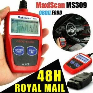 MS309 Car OBD2 OBDII Fault Code Reader Engine Diagnostic Scanner Reset Tools UK