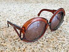 Vintage Playboy 4 7/8 Large Clear Orange Designer Sunglasses Frames 125 Austria