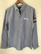 Long Sleeve Grey Oxford Shirt Stripes on sleeve - Size Medium Urban Outfitters