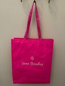 Vera Bradley Pink Shopping Bag Tote Gift Bag Reusable Eco Friendly Recycled