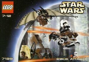 LEGO STAR WARS EWOK ATTACK #7139 RARE SCOUT TROOPER 100% COMPLETE GUARANTEE