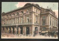 France - Reims - Le Theatre.  Vintage Post Card.