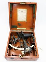 Antique Husun Sextant Made By H. Hughes & Sons LTD. London No. 22251 Wooden Box