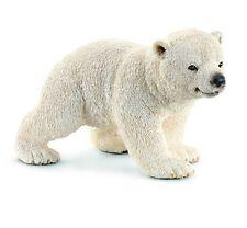 BRAND NEW Schleich Walking Polar Bear Cub Toy Figure Alaska North Pole Animal