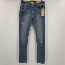 New Mudd Skinny Aztec Distressed Skinny Jeans Junior's Women's Size 3