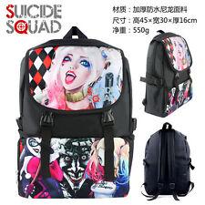 Suicide Squad Harley Quinn Backpack School Shoulder Student Bag Gift Cosplay