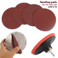 10 PCS 5 Inch 125 mm Sanding Disc Sandpaper 60/80/120/240 Grit Polishing Pad US