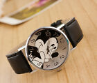 Mickey Mouse Children Watch Cartoon Cute Hour Quartz Watch Leather