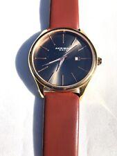 Akribos XXIV Gunmetal Charcoal & Rose Gold Ray Watch, AK618RGR, Maroon Wrist Ban
