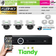 2MP Dôme Poe Caméra IP CCTV Plug & Play Kit Pack Sécurité Système Lite Séries