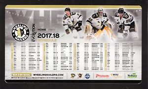 Wheeling Nailers--2017-18 Magnet Schedule--Penguins Affiliate--ECHL