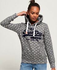 Superdry Womens Vintage Logo Star All Over Print Hoodie