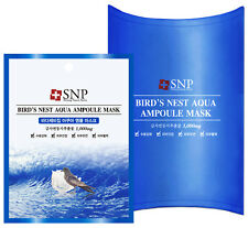 SNP Bird's Nest Aqua Ampoule Mask-25ml x 10pcs.(USA-Fast Shipping + Free e-gfts)