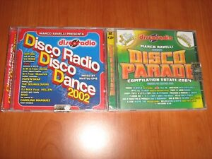 2 CD DISCORADIO DISCO DANCE 2002 + DISCOPARADE ESTATE 2004 COMPILATION PREZIOSO