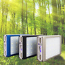 Solar LED Portable 2 USB Power Bank 5x 18650 External Battery Charger DIY Box