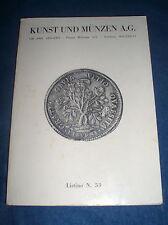 MONETE MEDAGLIE listino n.53 1984 Kunst und Münzen